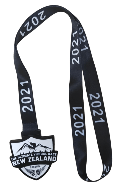 Virtual Race of New Zealand 2021 medal